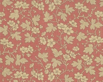 Moda Rouenneries Deux Quilt Fabric 1/2 Yard By French General - Faded Red 13525 27