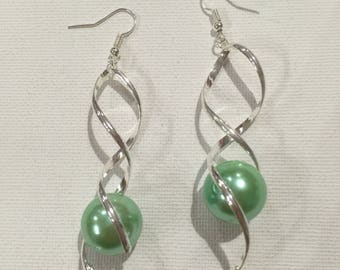 GREEN MOTHER OF PEARL SPIRAL