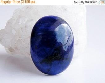Summer Sale- 35% Off Blue Beryl Semi-Precious Stone - Oval Cabochon - 30x23mm - 57 Ct