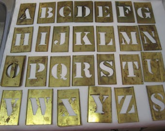 Vintage large Stencil letters / Vintage Stencil Big letters