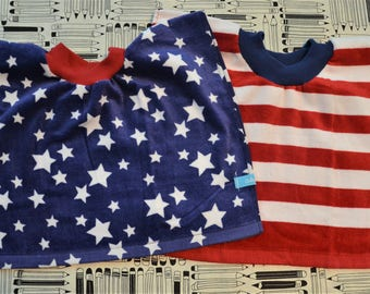 4th of July Baby Bibs, Baby/Toddler Tea Towel Bibs, Toddler Bibs
