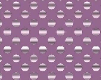 Dots on violet, Hello Jane, Allison Harris of Cluck Cluck Sew for Windham Fabrics 42916-3