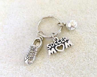 Personalized soccer keychain for mom soccer mom soccer gifts girls soccer soccer ball keychain soccer team gift