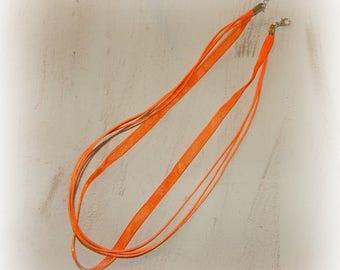 3 neck sizes of organza and orange cotton