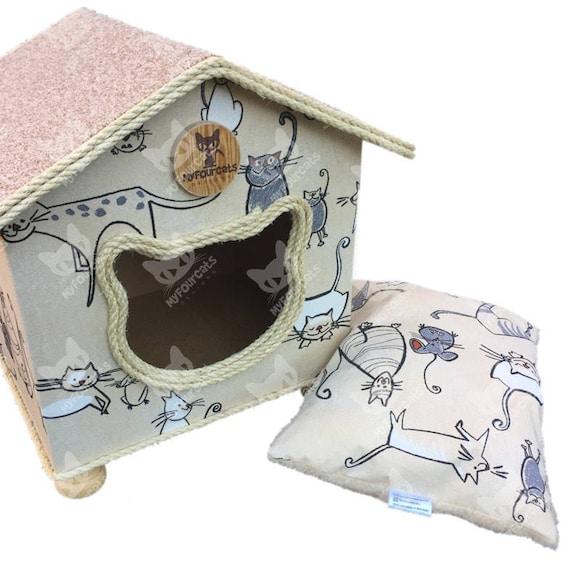 CatCottage Cat House Cat Bed Pet Furniture CatCave Cat Castle