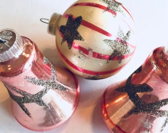 Christmas Tree Ornaments, Christmas Ornaments, Vintage Ornaments, Vintage Christmas Tree Ornaments, Feather Tree Ornament, Bell Ornaments