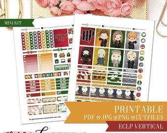 PRINTABLE MINI KIT: Potter's World/Erin Condren Vertical/Printable/Digital/Weekly Kit
