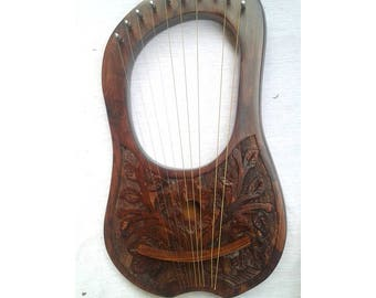 Lyre harp 10 metal strings with free key and bag