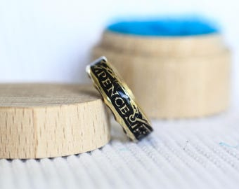 British 3 Pence coin ring - handmade - gift for