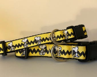 Snoopy 3/4 or 1 inch Dog Collar