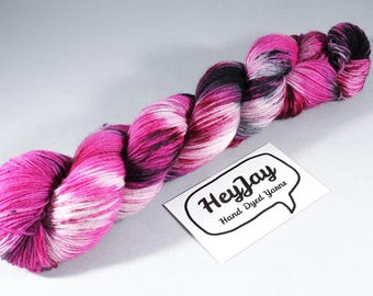 Hand Dyed Sock Yarn Superwash Merino - Avril