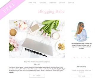 FREE WordPress Theme BLOGGING BABE