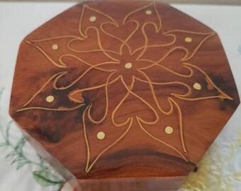 Vintage Lacquer Wooden Box