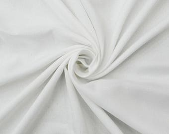 """White Rayon Fabric, Dress Fabric, Ethnic Fabric, Crafting Material, Decor Fabric, 55"""" Inch Fabric By The Yard PZBR2A"""