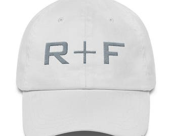 White Rodan And Fields Hat Embroidered, Rodan and Fields Pink Hat Unstructured 6 Panel Made in the USA