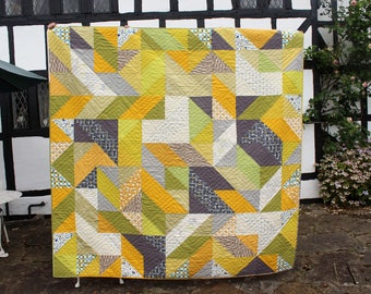 Jewish wedding canopy, Chuppah, CUSTOM MADE, geometric quilted queen size quilt,double sided,Jewish celebration,unique,modern art patchwork