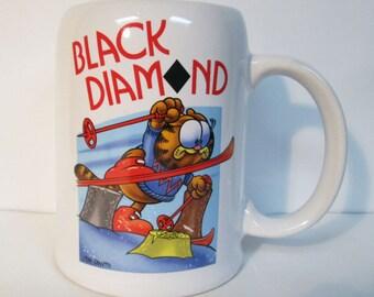Garfield Black Diamond Skiing Ceramic Mug Stein Enesco