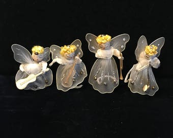 Vintage Christmas musical angels ,Delta novelty company Japan.