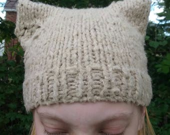 Cat heart hat and fingerless gloves