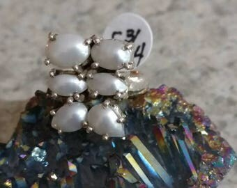 Six Pretty Pearls Ring, Size 5 3/4