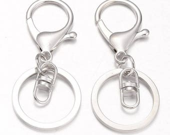 1 Pc Silver / Platinum Key Clasps Swivel Ring | Key Clasp | Key Ring | Swivel Clasp | Lobster Clasp | Key Chain | 0320