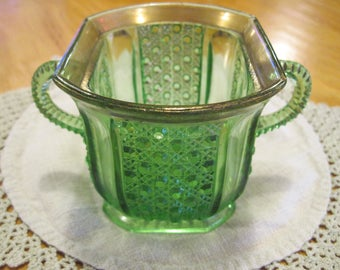 EAPG Emerald Green Sugar Bowl - Item #1608