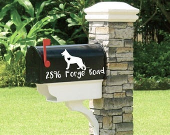 Set of Mailbox Dog Decals, Dog Lover Decal, Mailbox Decal