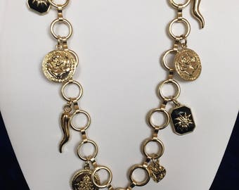 Vintage Goldtone Charm Necklace