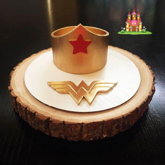 Wonder Woman Crown Cake Topper