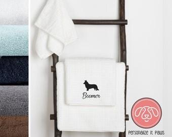Carnigan Corgi Embroidered Towel