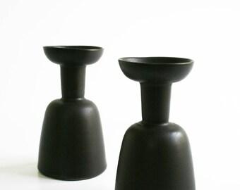 Rare Martz Marshall Studios Pottery Candleholder Pair Mid Century