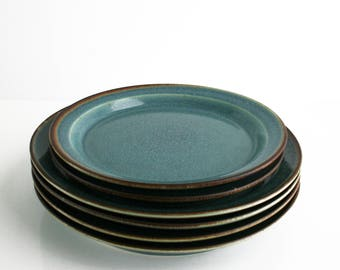 Dansk Teal Niels Refsgaard Denmark Dinner Salad Plate Set of 6