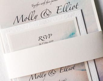 Watercolours Collection, Wedding Invitation (Day)