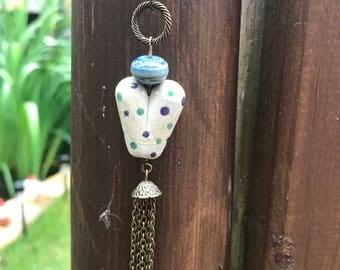 "Denim blue 30"" Necklace"