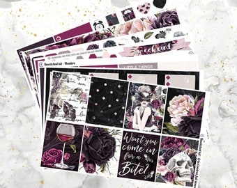 Bewitched - Vampire- Weekly Kit for Erin Condren and Happy Planner (with optional deco sheet!)