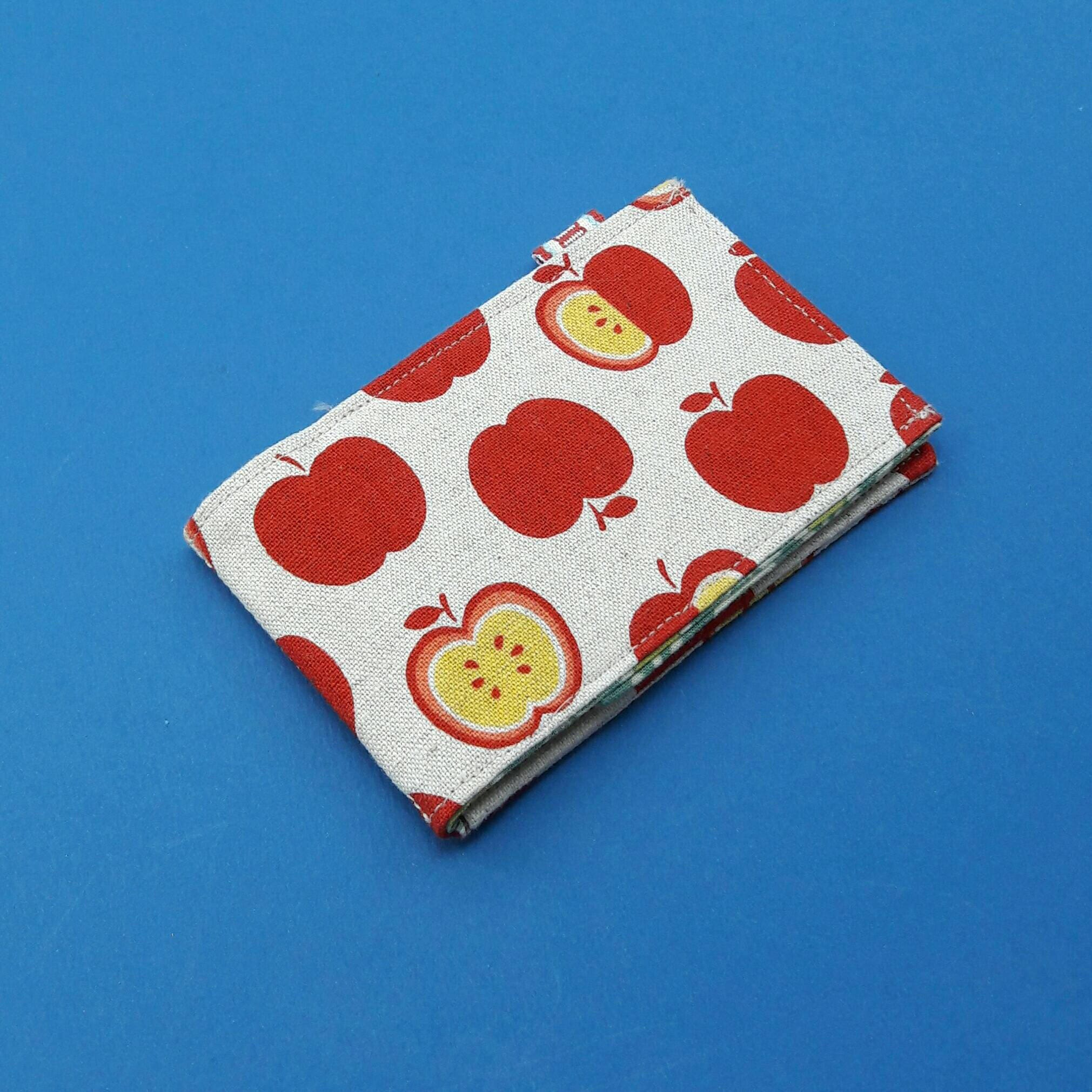 Retro seventies apple print oyster card wallet, business card ...