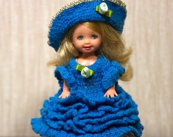 Kelly Handmade crocheted cotton  historical  Old South Gown Kelly clothes Kelly dress Kelly handmade Kelly crochet Barbie sister crochet