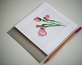 Flowers in the Afternoon  Greeting Card