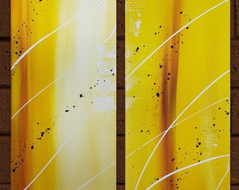 Contemporary diptych painting modern abstract painting