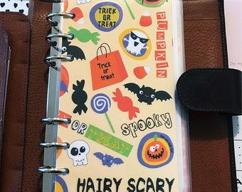 Planner dashboard - planner insert - planner divider - planner flyleaf - laminated insert - Halloween print - planner supplies - planner