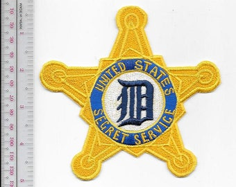 US Secret Service USSS Michigan Detroit Field Office Agent Service Tigers Patch
