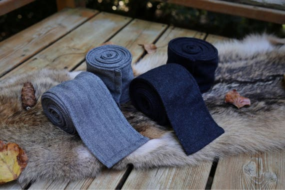 New! Viking 2 Pairs Various Wool Leg Wraps Winingas Vindingr Wickelbander vaf-spjôrr, Garb Norse, SCA, LARP, Anglo Saxon, Armor, Reenactment