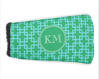 Personalized Monogram Chic Golf Putter Cover, Custom Cover for Putter Golf Club