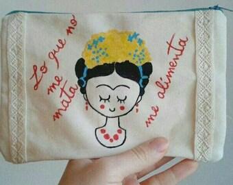 Frida Kahlo, Frida Kahlo art, Frida Kahlo purse, Frida Kahlo design, Frida Kahlo carry-all, Frida Kahlo pencil case
