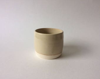 light shino cup or planter or vase