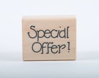 Special Offer, Vintage, Single Stamp, JRL Design Co, Wood Mounted, Rubber Stamp, Text, Scrapbooking, Card Making ~ 160921C