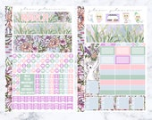 March A5 Monthly Spread Sticker Kit (Glam Planner Stickers for Erin Condren Life Planner)