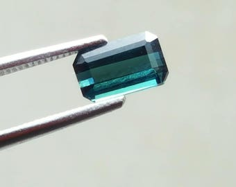 1.00 Carat Blue Indicolite color loose tourmaline gemstone from@ Afghanistan 7*4.5*3mm (17)