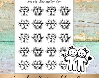 Cutie Pies- Girls Night Out Planner Stickers