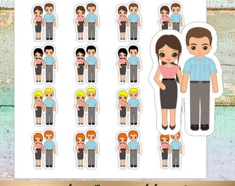 Couple- Family Planner Stickers